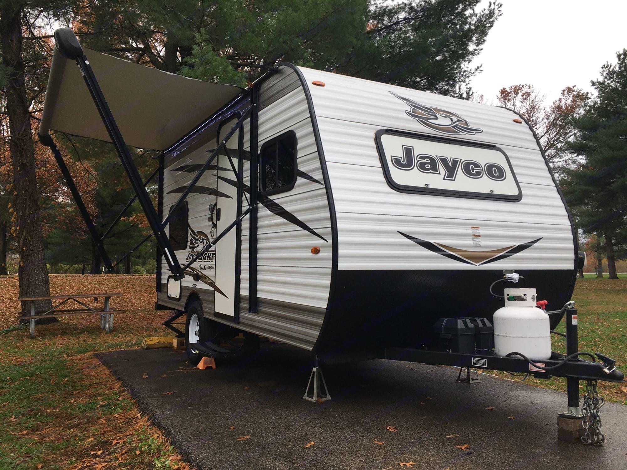 In her natural habitat. Jayco JayFlight 2018
