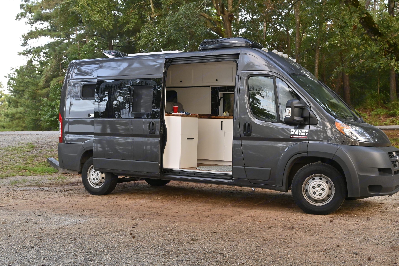 Full view of the van with open door to nature.. Dodge Other 2018