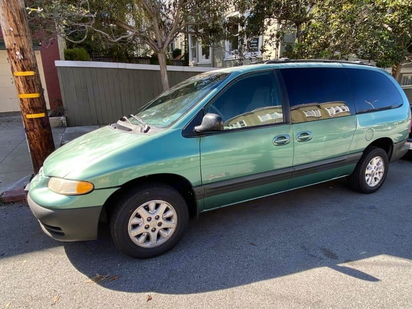 No one would suspect a thing on the street. Plymouth Voyager 1999