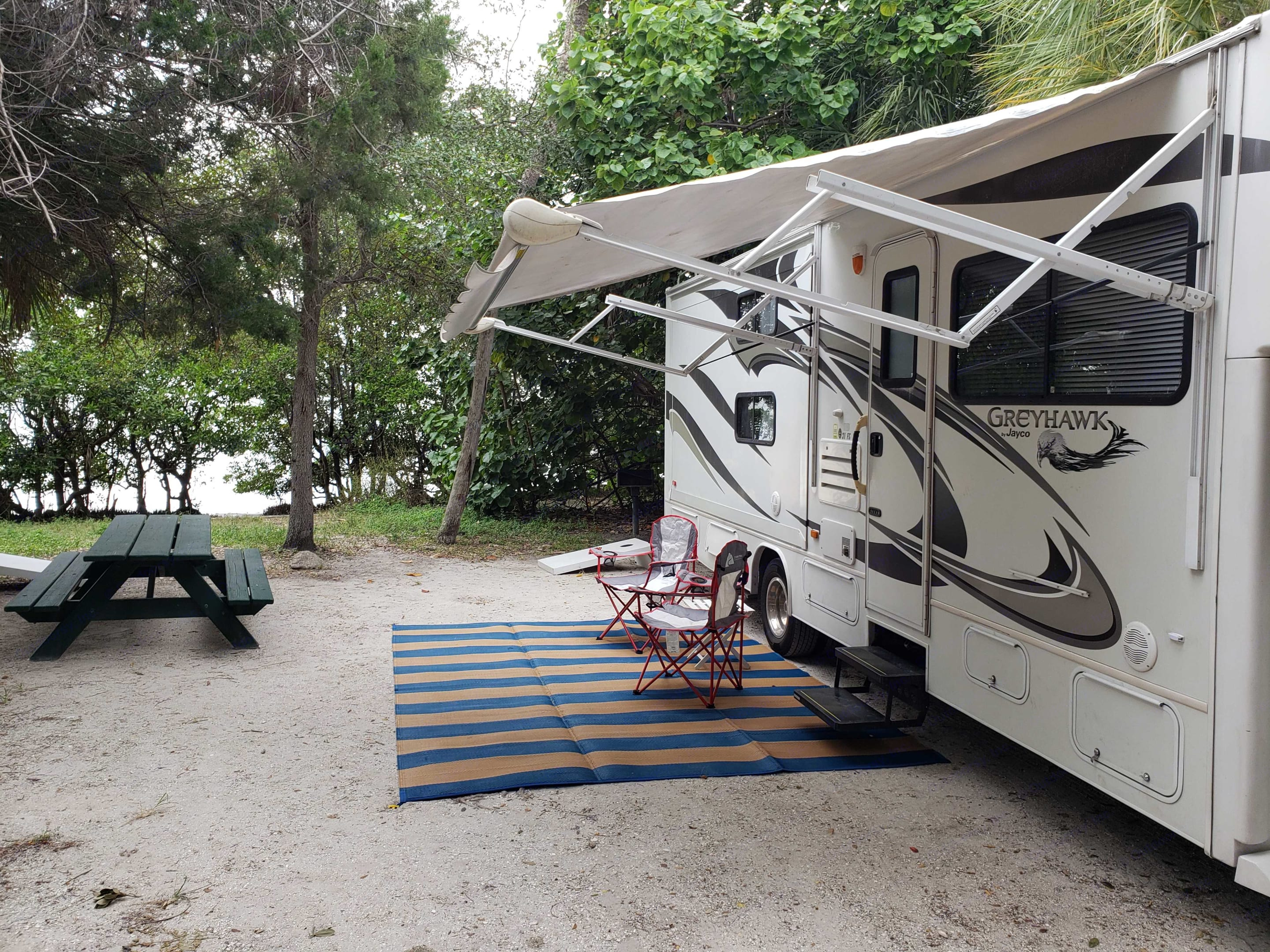 Fort Desoto Campground - inexpensive and the best camping on the gulf. Kayak right from your campsite!. Jayco Greyhawk 2012