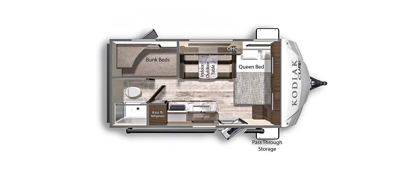 Many sleeping and storage options!. Dutchmen Kodiak Cub 175BH 2021