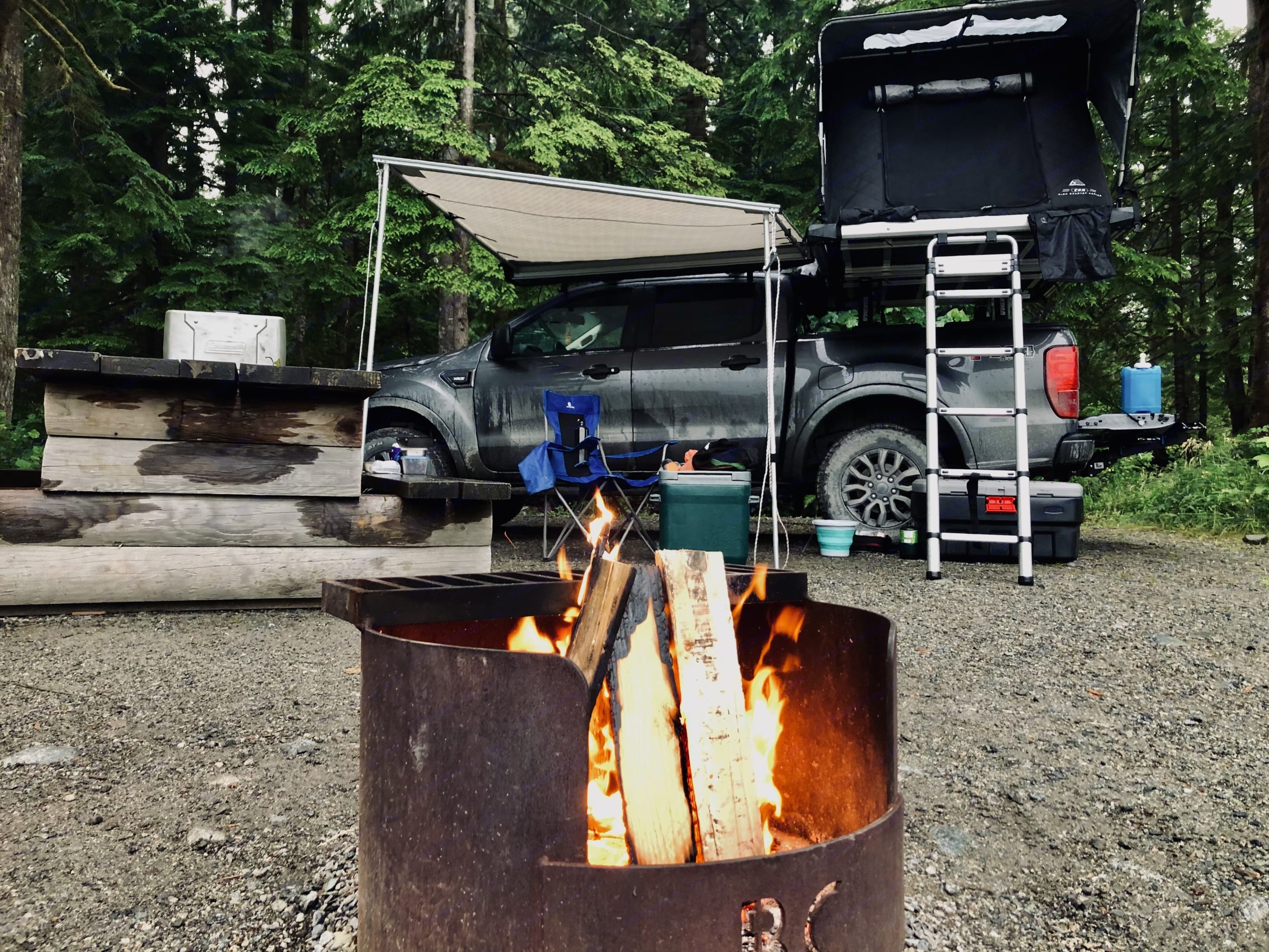 Campsite ready. Ford Ranger 2019