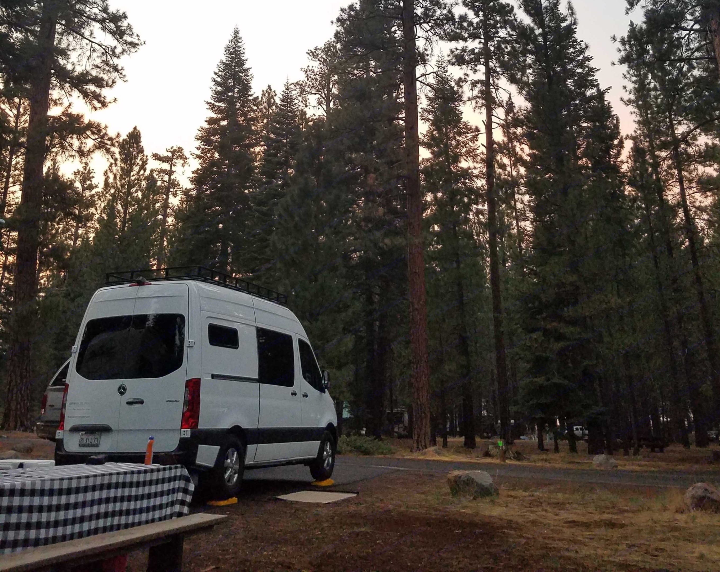 Merrill campground,  Eagle Lake, CA. Mercedes Sprinter 144 High Roof 2019