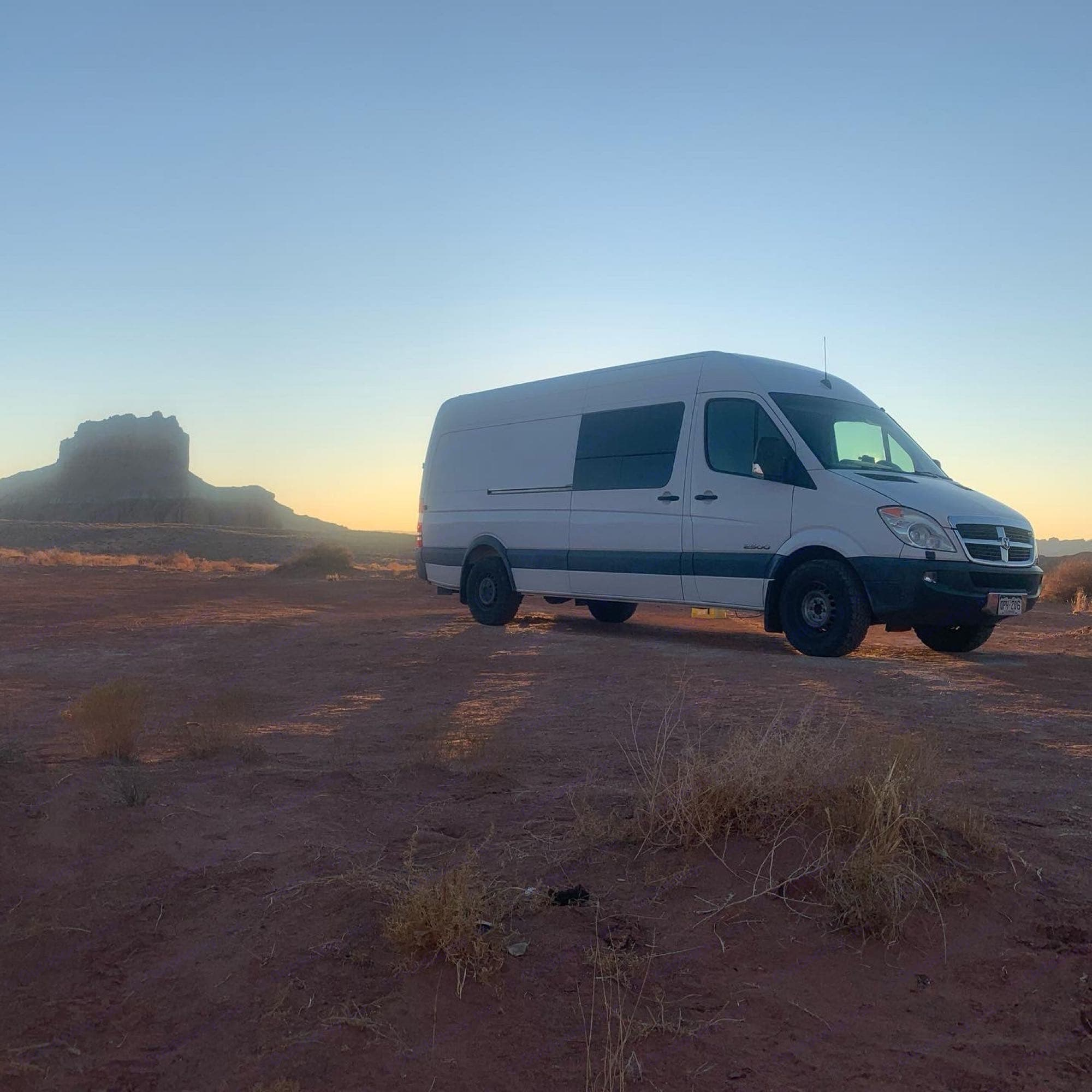 Desert dispersed camping. Dodge Sprinter Van 2008