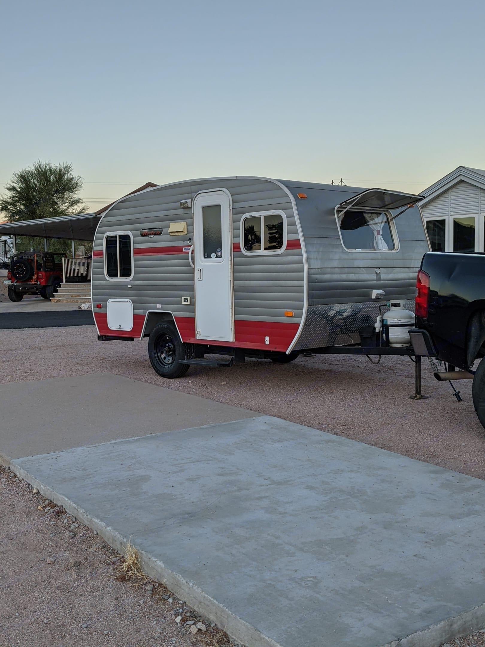 Retro style in a modern trailer. Riverside Rv Whitewater Retro 2014