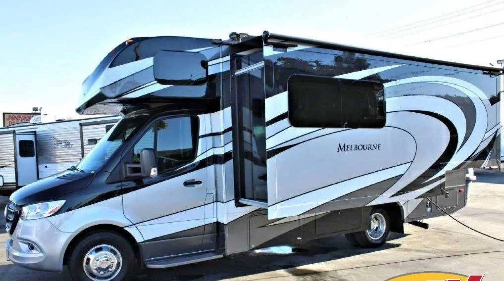 Smooth riding, beautiful, and sleek with easy maneuverability....like driving a car.. Jayco Melbourne 2020