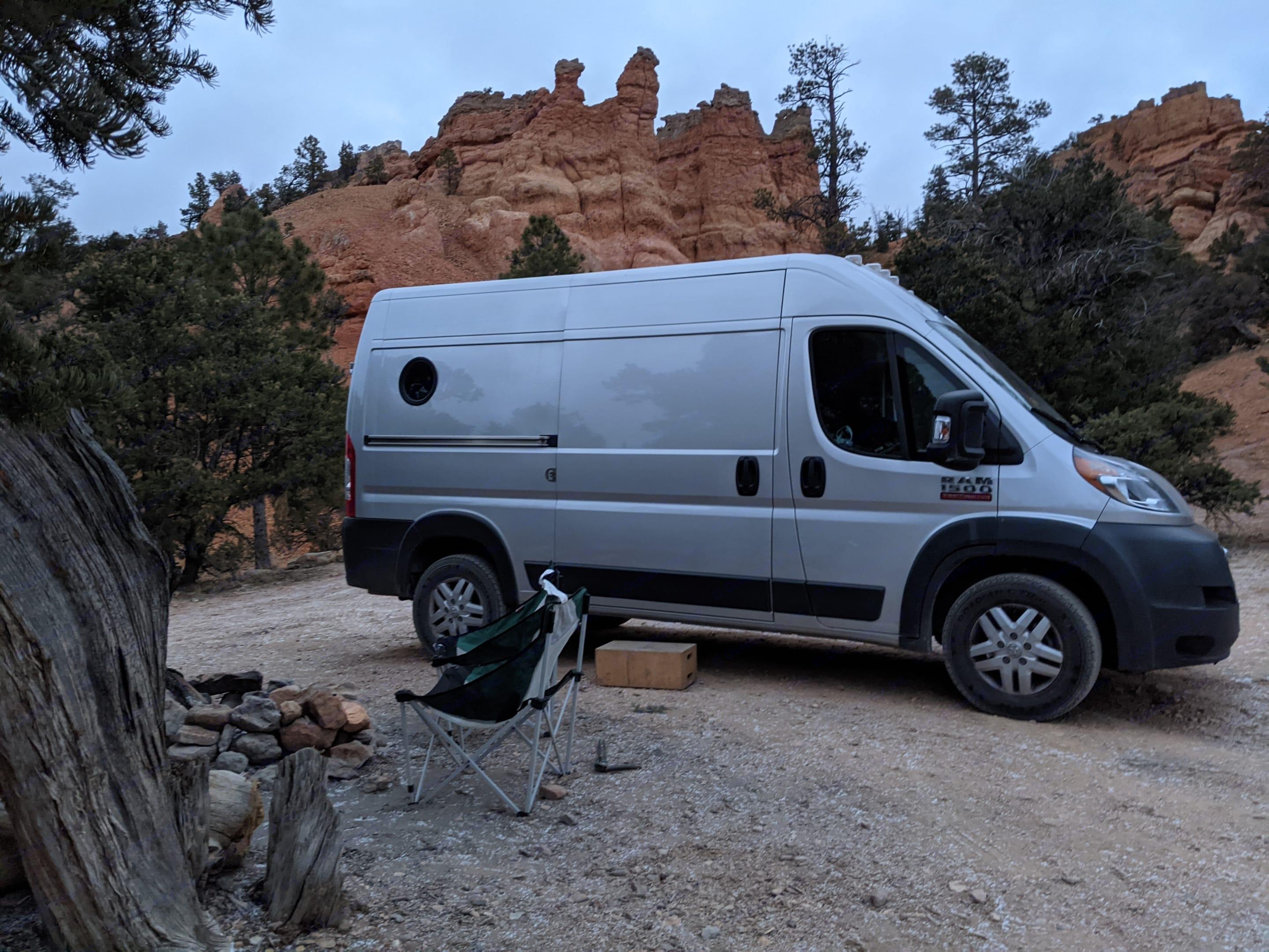 We drove in at night in the dark and woke up to this!. Dodge Ram Ram Promaster High Roof 2017