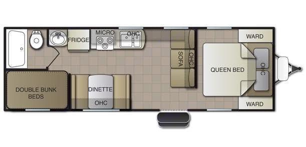 Floorplan View. Pacific Coachworks Tango 2021