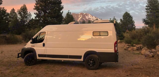 Mount Shasta Sunset. Dodge Promaster 3500 2018