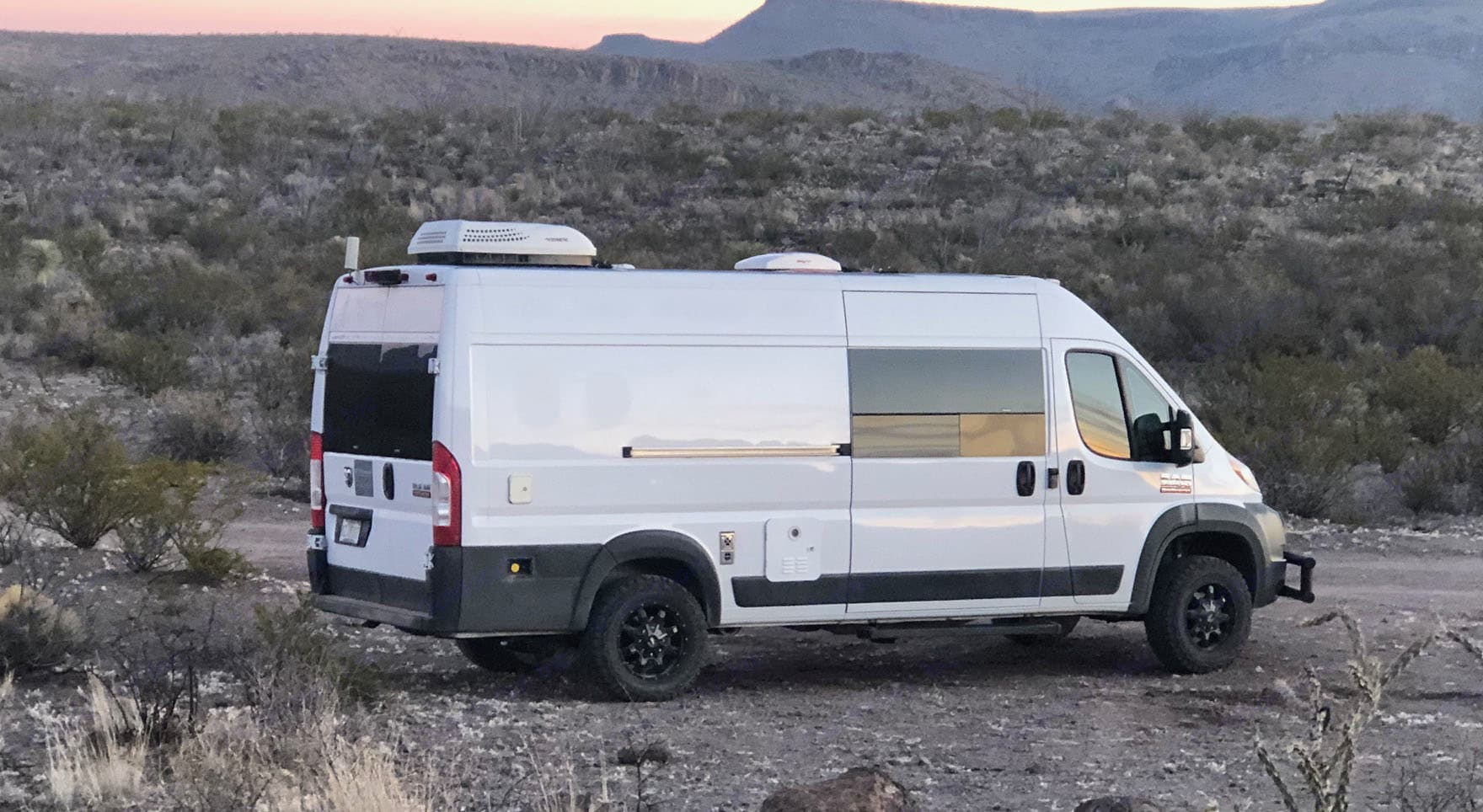Off-Grid Desert Camping. Dodge Promaster 3500 2018