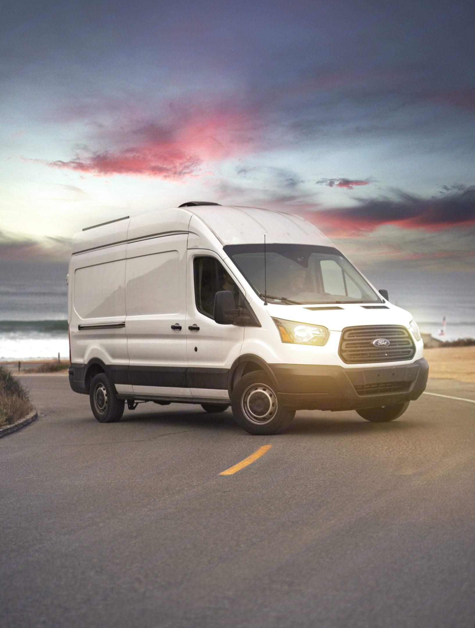 Look at those headlights. Brand new and ready to light up the night. . Ford Transit 2019