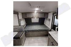 Queen Bed, with overhead storage. Coachmen Apex Nano 194 BHS 2021