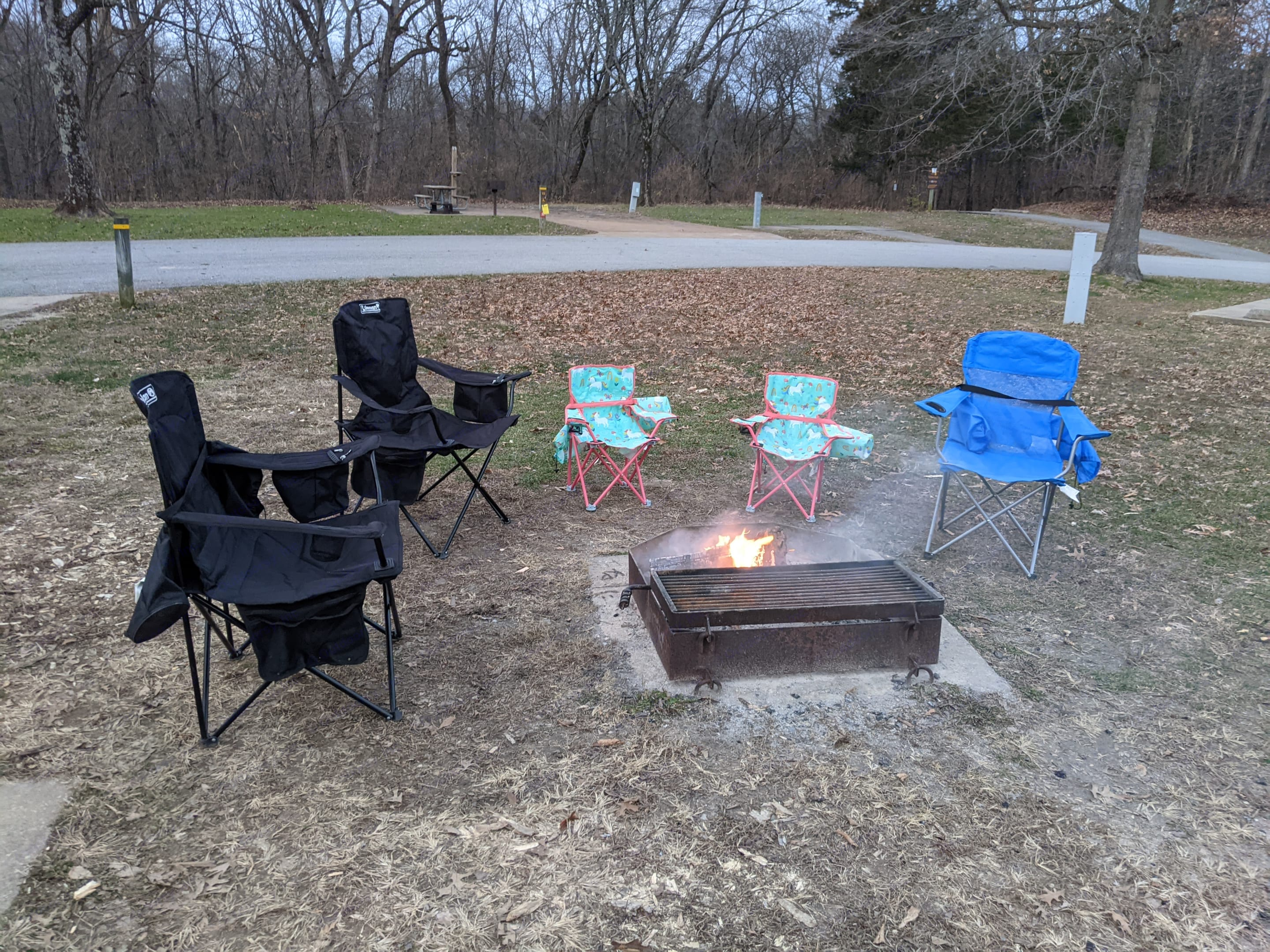 We provide a family set of chairs for your family of bears. Perfect to set up around the fire!. Dutchmen Coleman Lantern 17FQ 2020