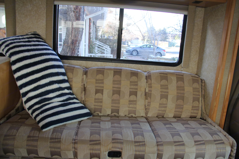 Sofa folds out, sleeps two, cozy.. Thor Motor Coach Chateau 2007
