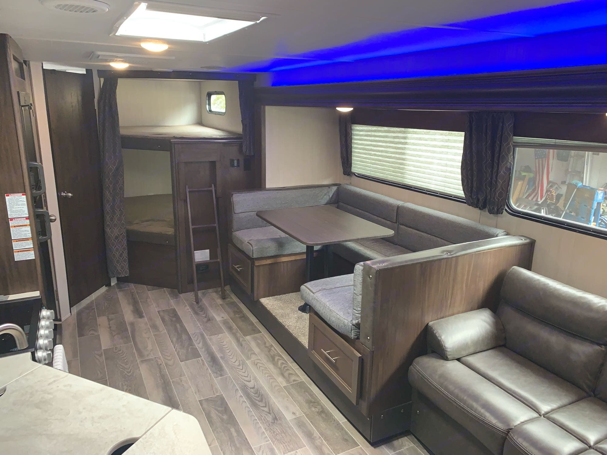 Spacious interior for those rainy days.. Forest River Cherokee Grey Wolf 2019
