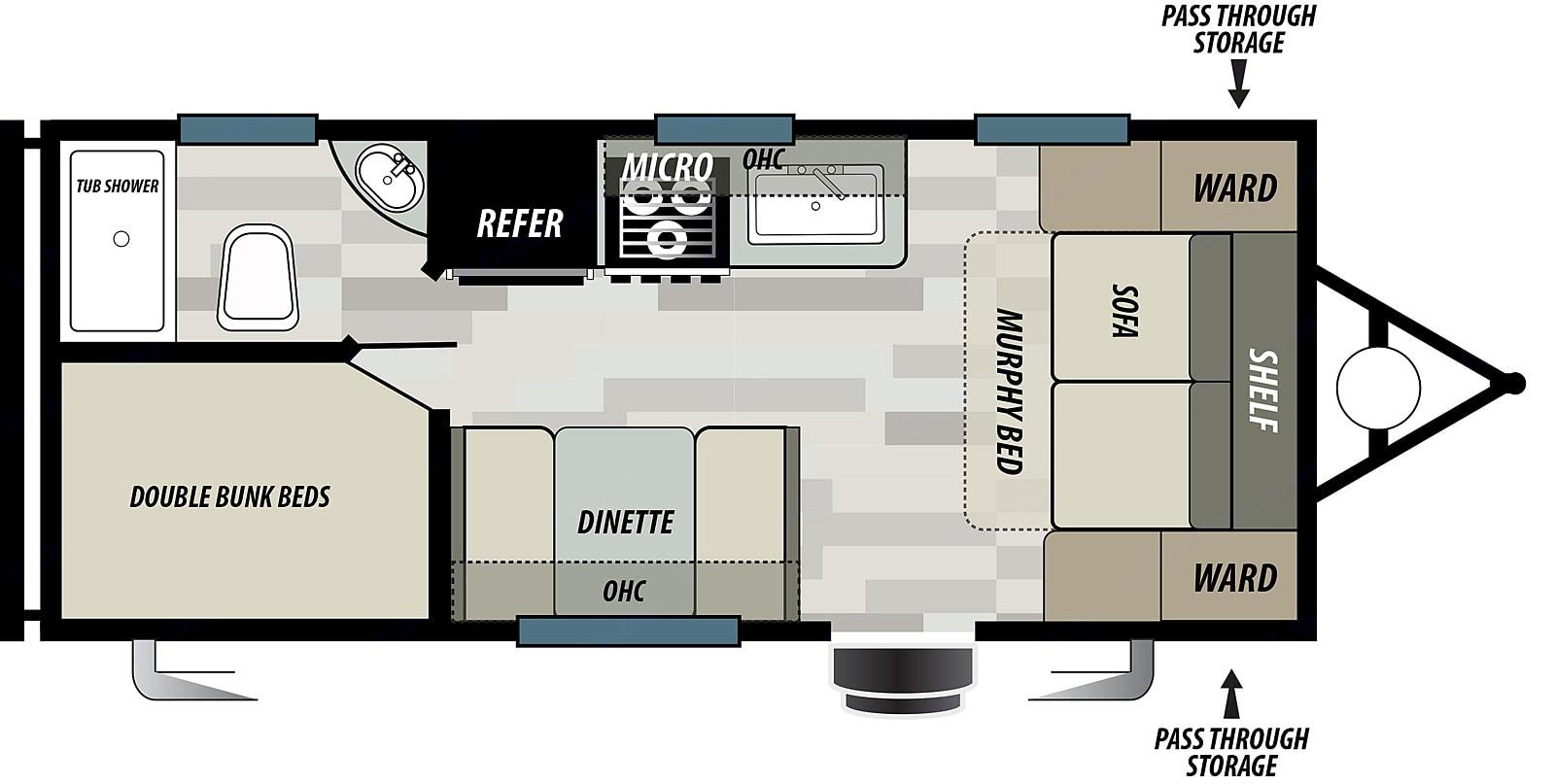 floor plan. Forest River Cruise Lite 2021