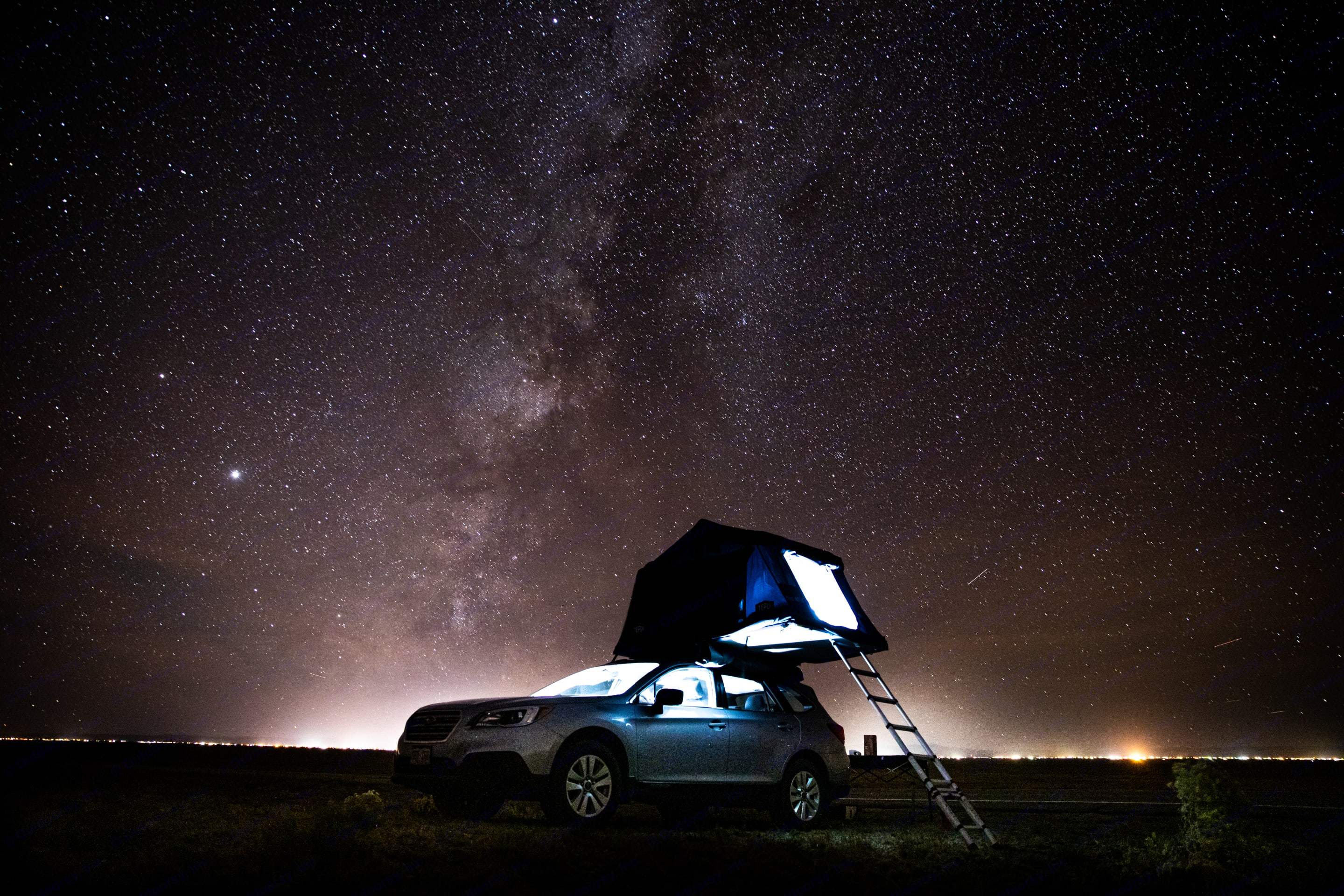 Open up the skylight on warm nights to sleep under the stars.. Subaru Outback 2017