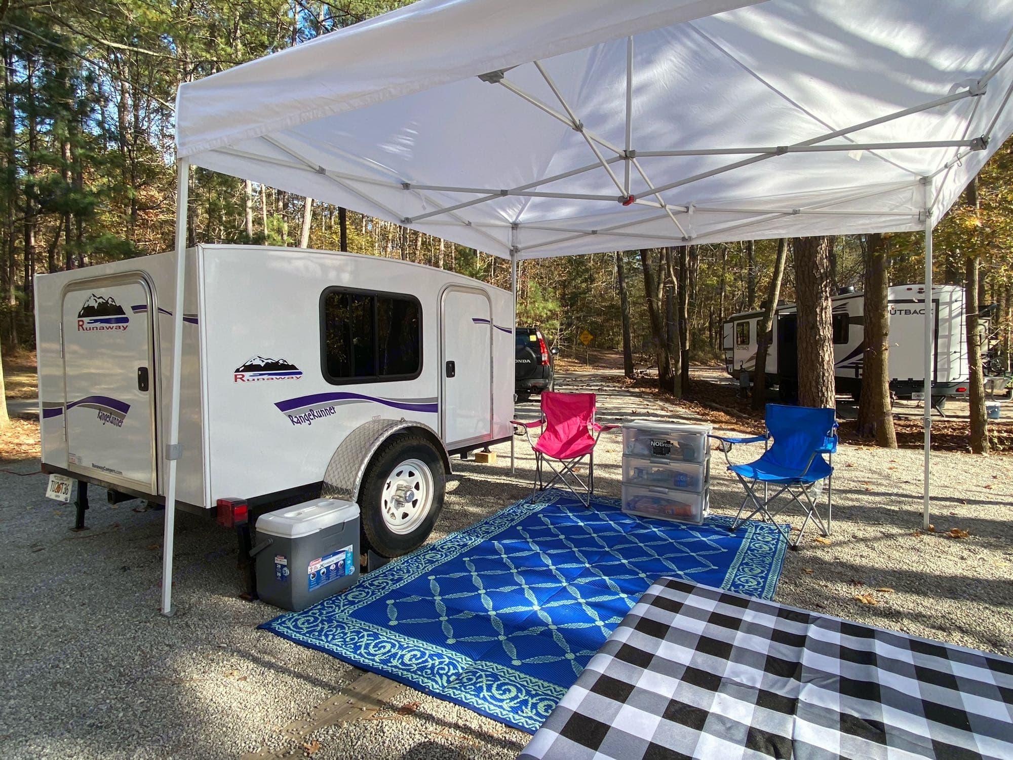 Our camping set up. . Runaway Campers Rangerunner 2019