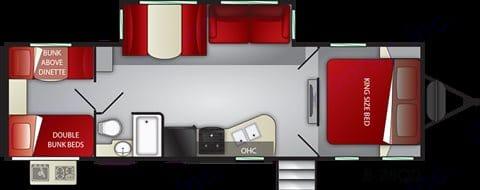 Floor plan. Cruiser Rv Corp Radiance 2018