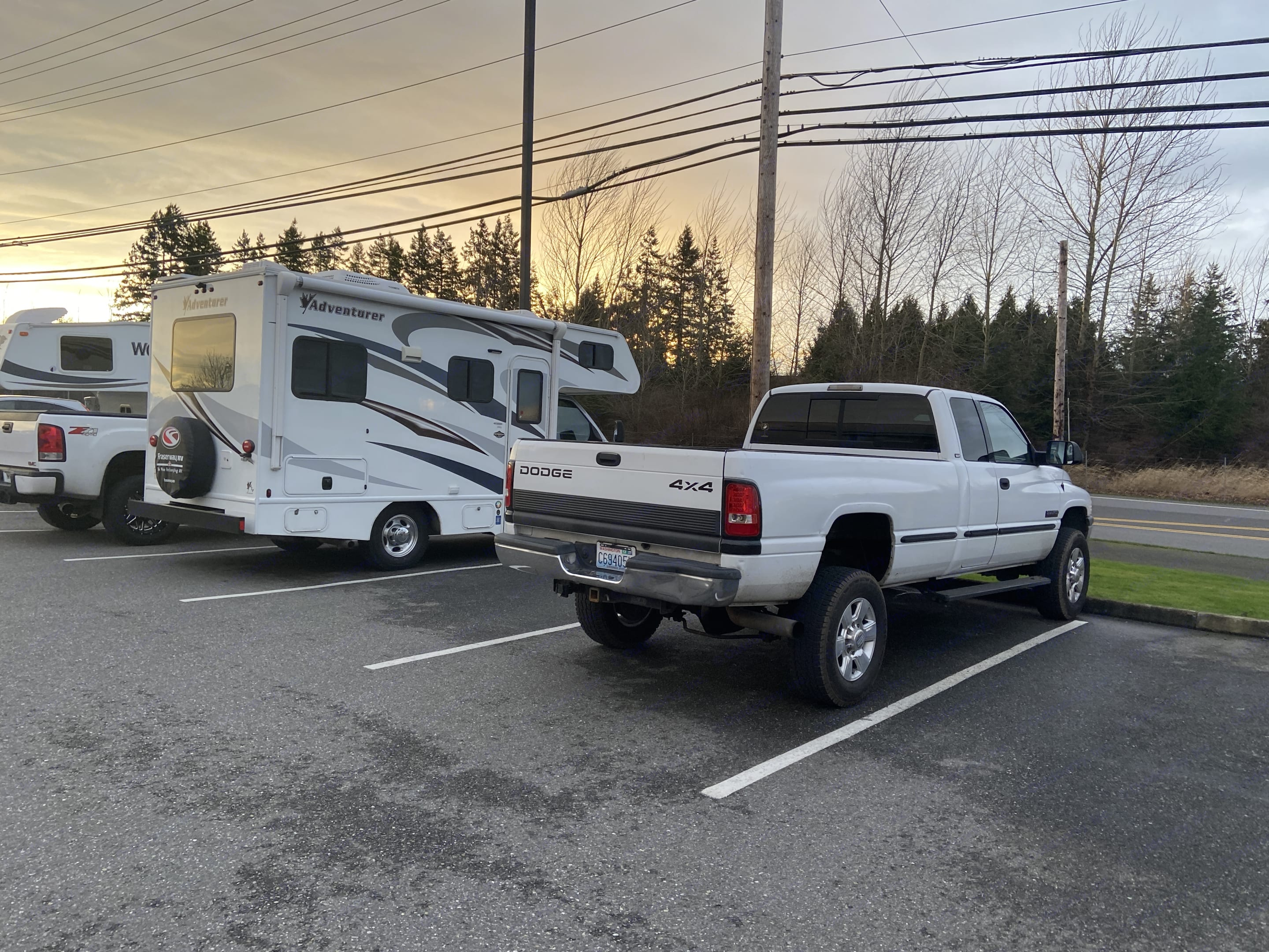 Nimble to drive!  This rig is a short as a sprinter van. Our upgraded suspension makes driving SMOOTH! We are shorter than this typical Dodge truck!. ALP Adventurer 19RD 2019
