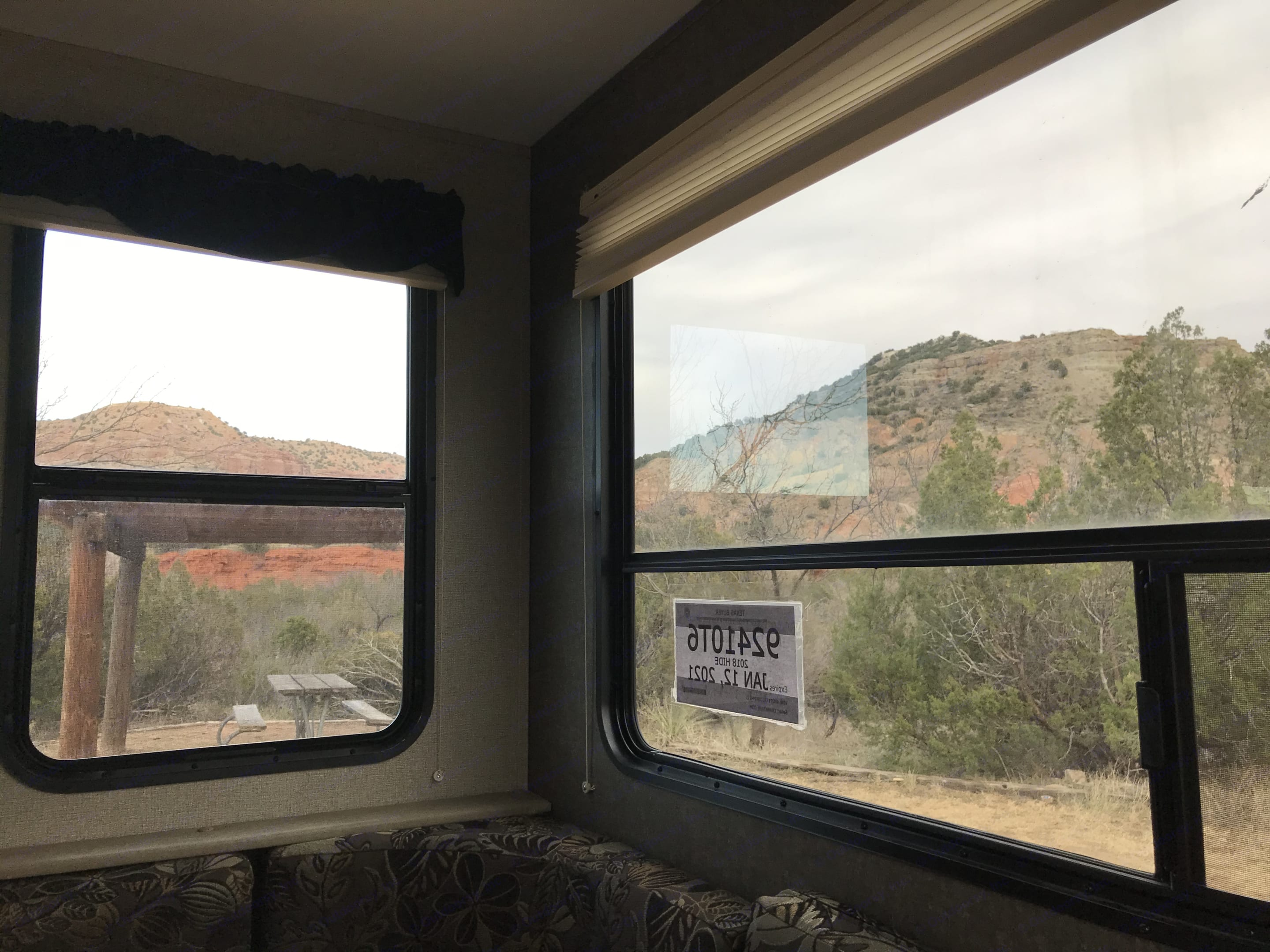 The Dinette converts to a sleeping area so you can gaze at the stars. . Keystone Hideout 2018
