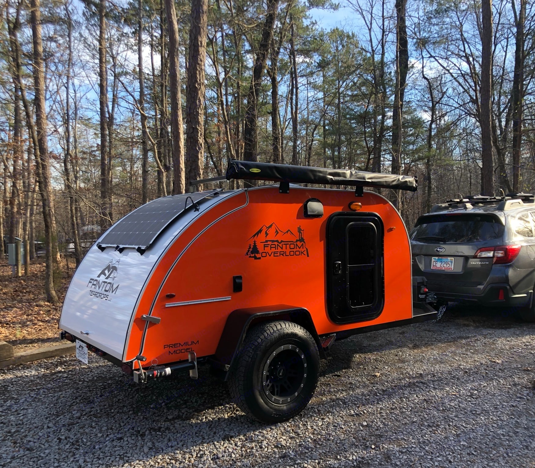 Solar panels provide power for lights, cooler and fan while you are boondocking.. Other Other 2021