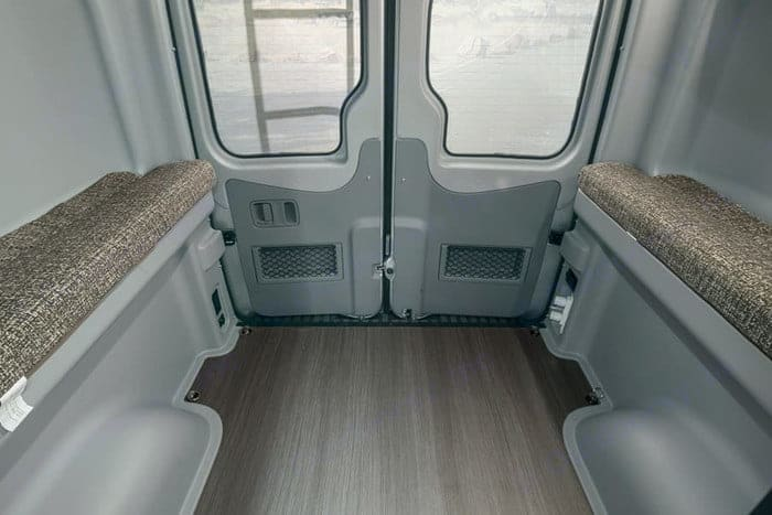 You can raise bed for play,. Winnebago Revel 2020