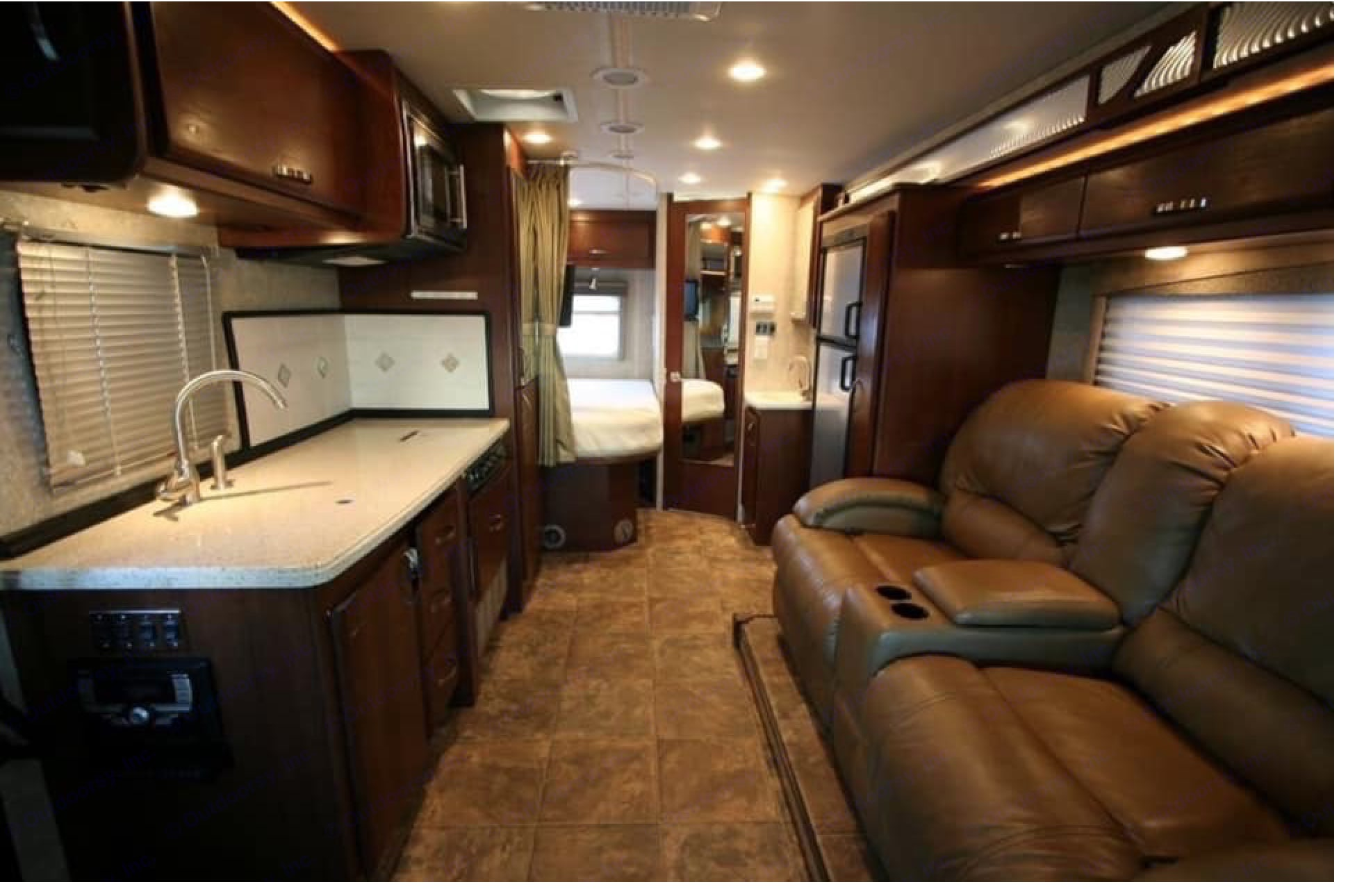 Galley - Note:  2-Loungers have been replaced with Sleeper Sofa.. Fleetwood Tioga 2011
