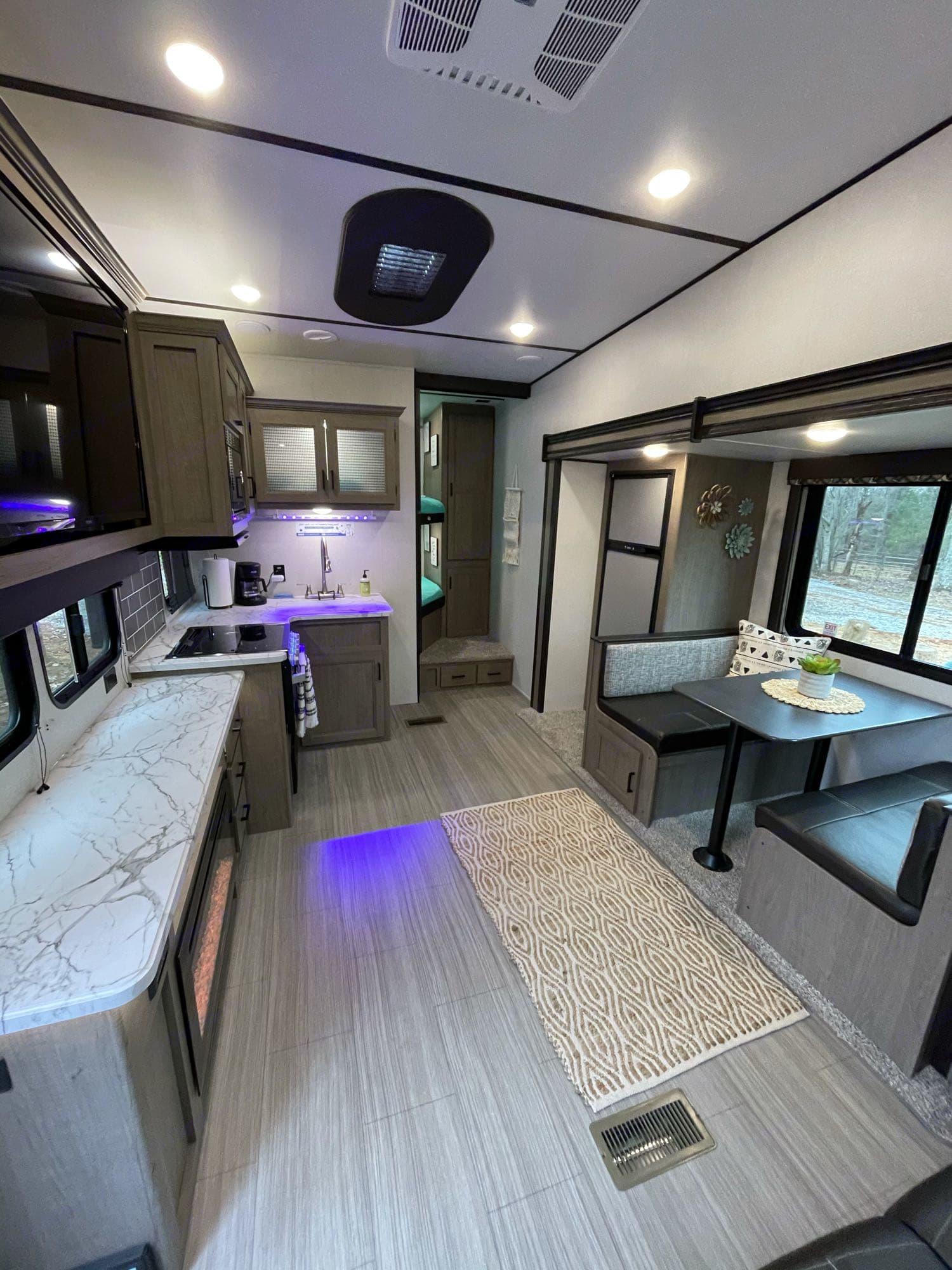 living room/kitchen. Keystone Hideout 2020