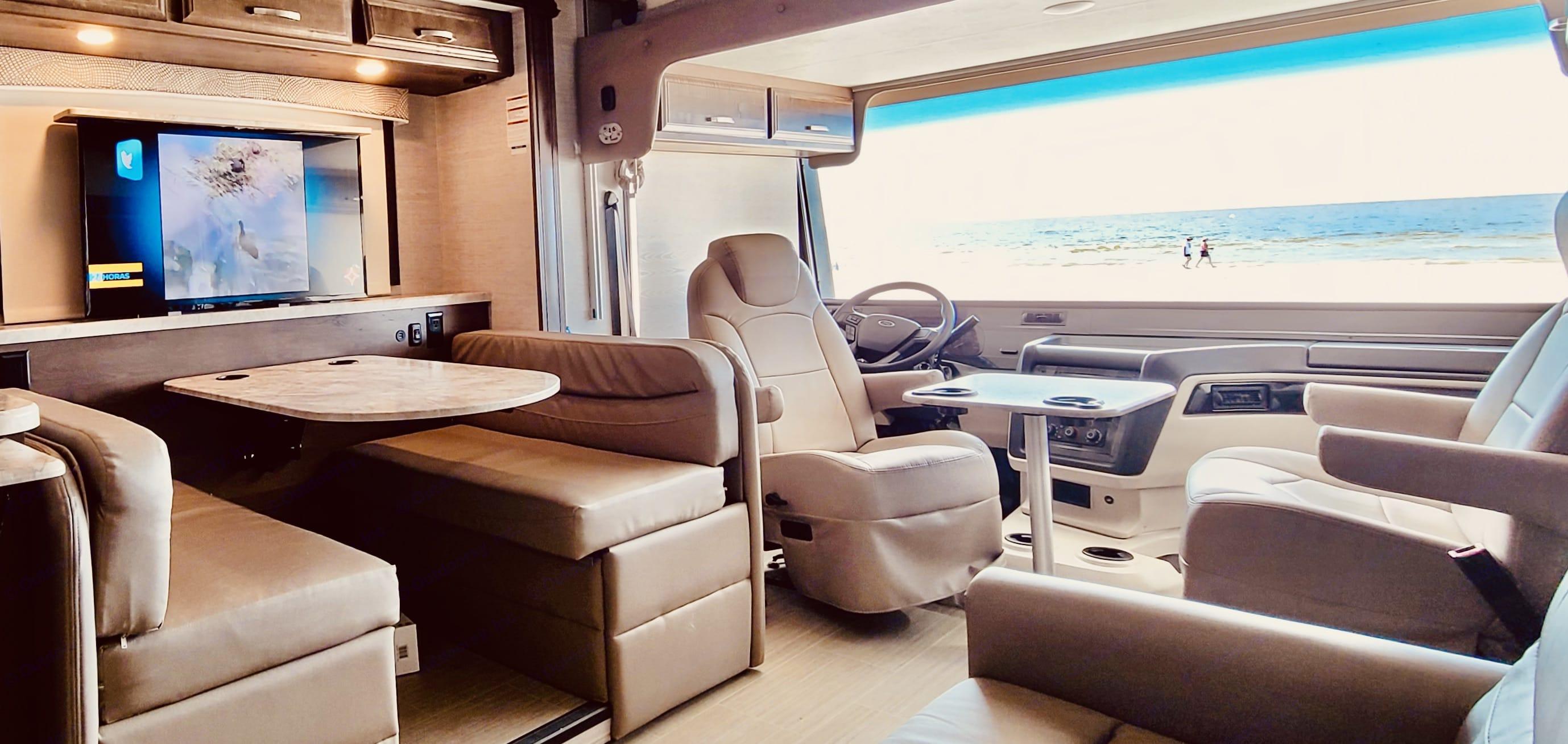 Cockpit view. Entegra Coach Vison 32 Series 29F 2021