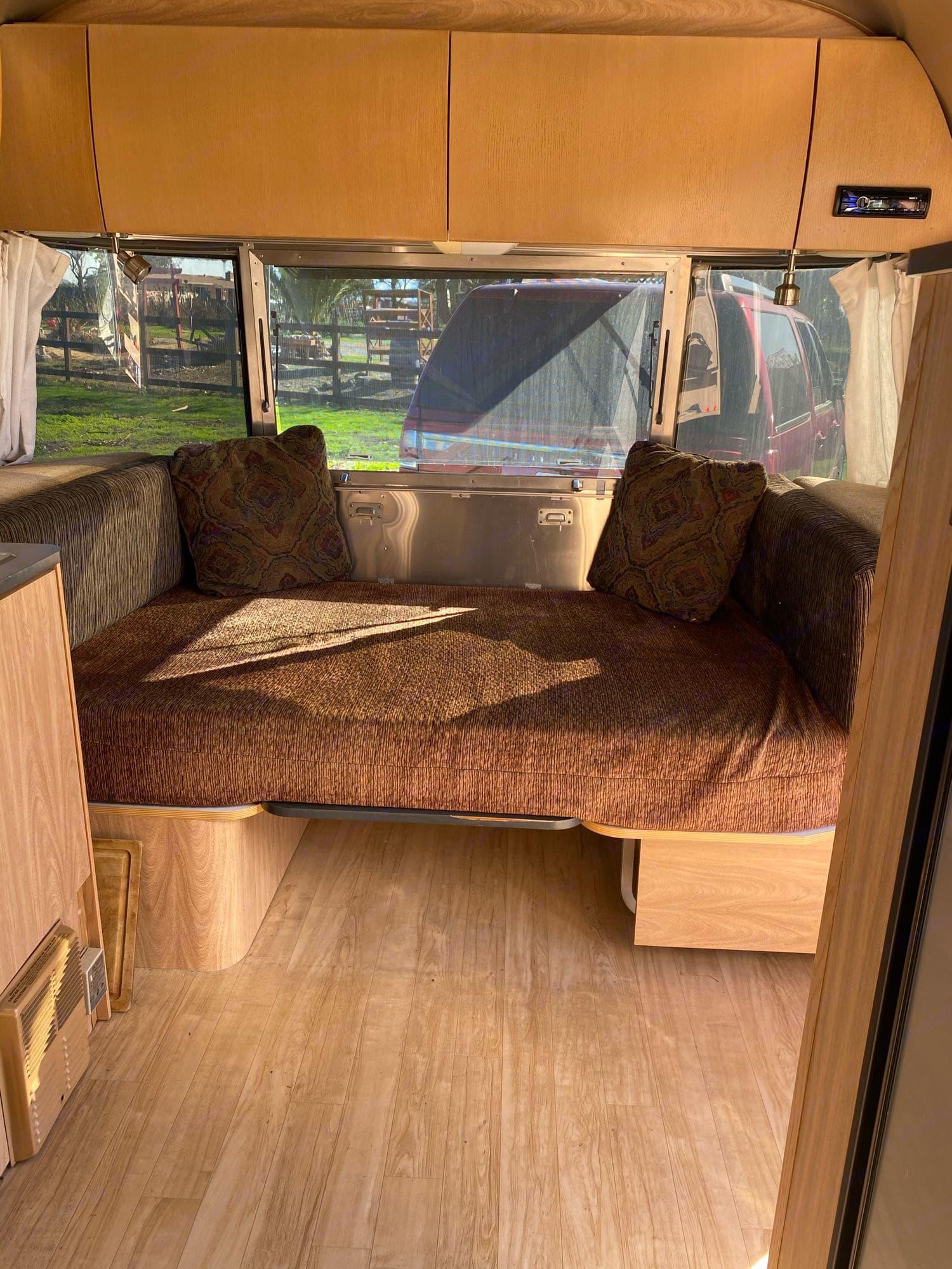 Custom cushion made for ultimate comfort.. Airstream Safari 2007