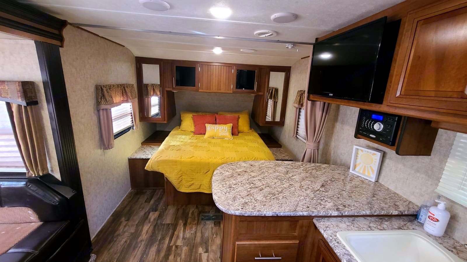 Spacious Bedroom, great for relaxing after a long day of adventure!. Forest River Tracer 2017