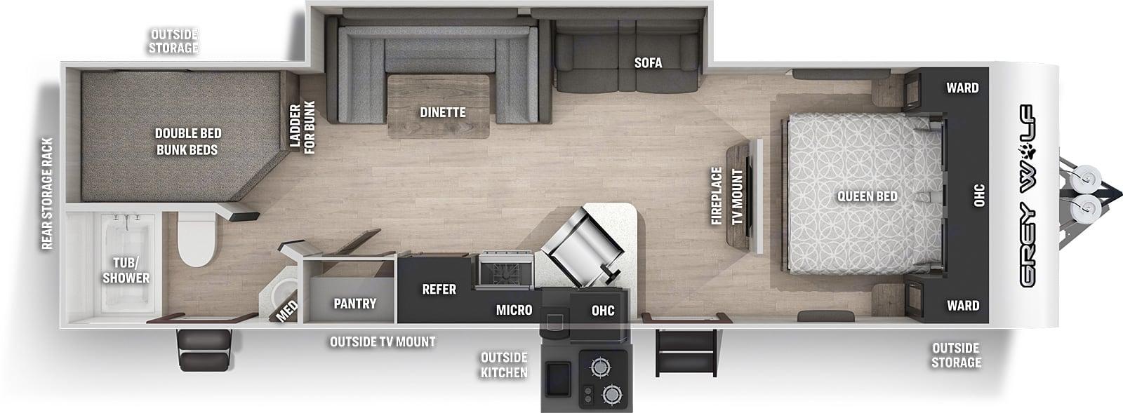 Grey Wolf 26DBH Floorplan. Grey Wolf 26DBH 2021