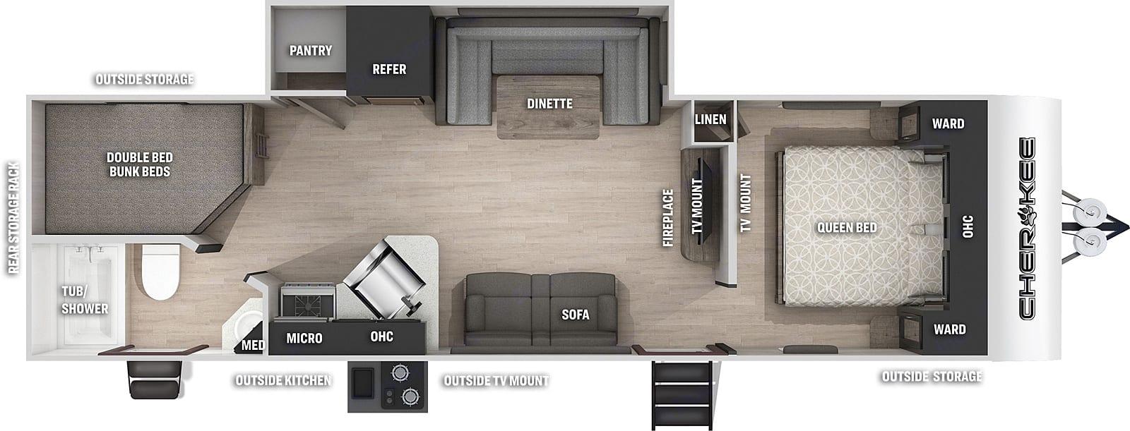 versatile floorplan. Forest River Cherokee Grey Wolf 2021