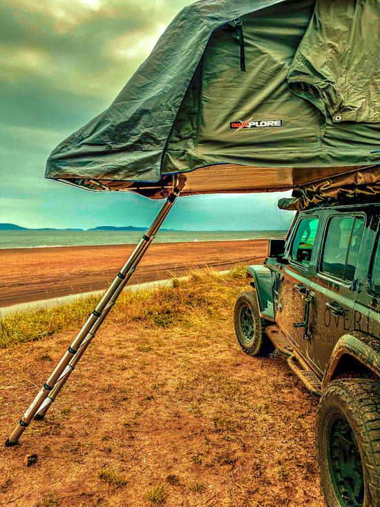 Camper où vous voulez. Jeep Wrangler JL Unlimited 2018