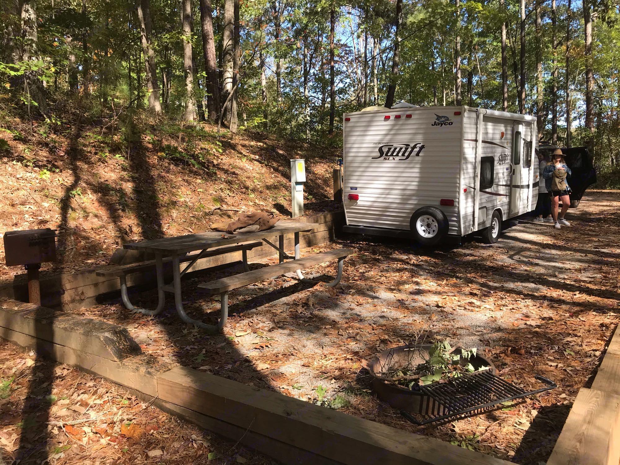 Doll Mountain Site. Jayco Camper Trailer- Swift 2012