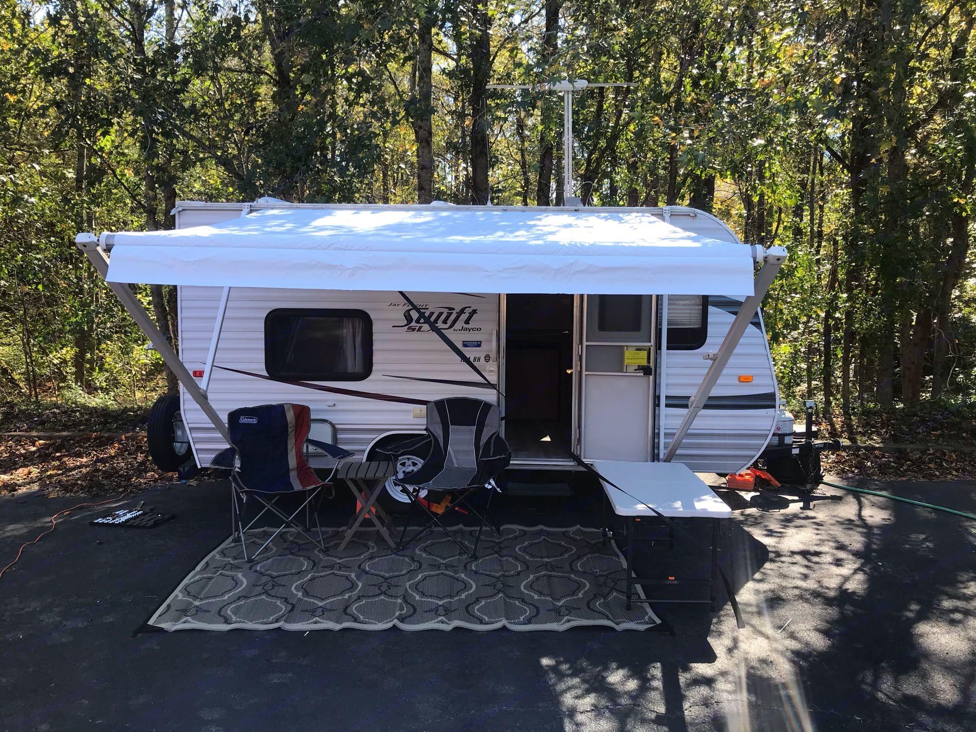 Simple Camp set up. Jayco Camper Trailer- Swift 2012