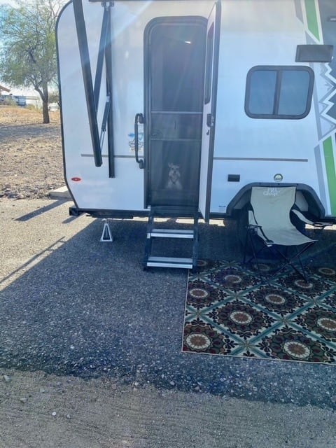 We are pet friendly & we offer delivery. This picture is when we set up at Pleasant Lake. You will have the perfect little set up. Get out and enjoy.. Forest River Other 2019