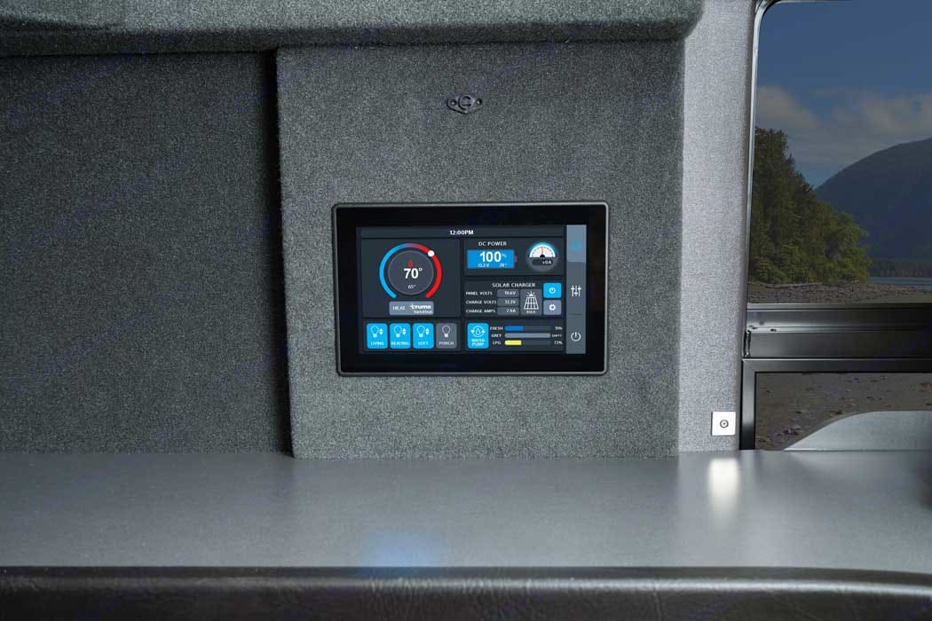 Easy to use. Manage water, battery, propane and solar levels.. Pleasure Way Tofino 2021
