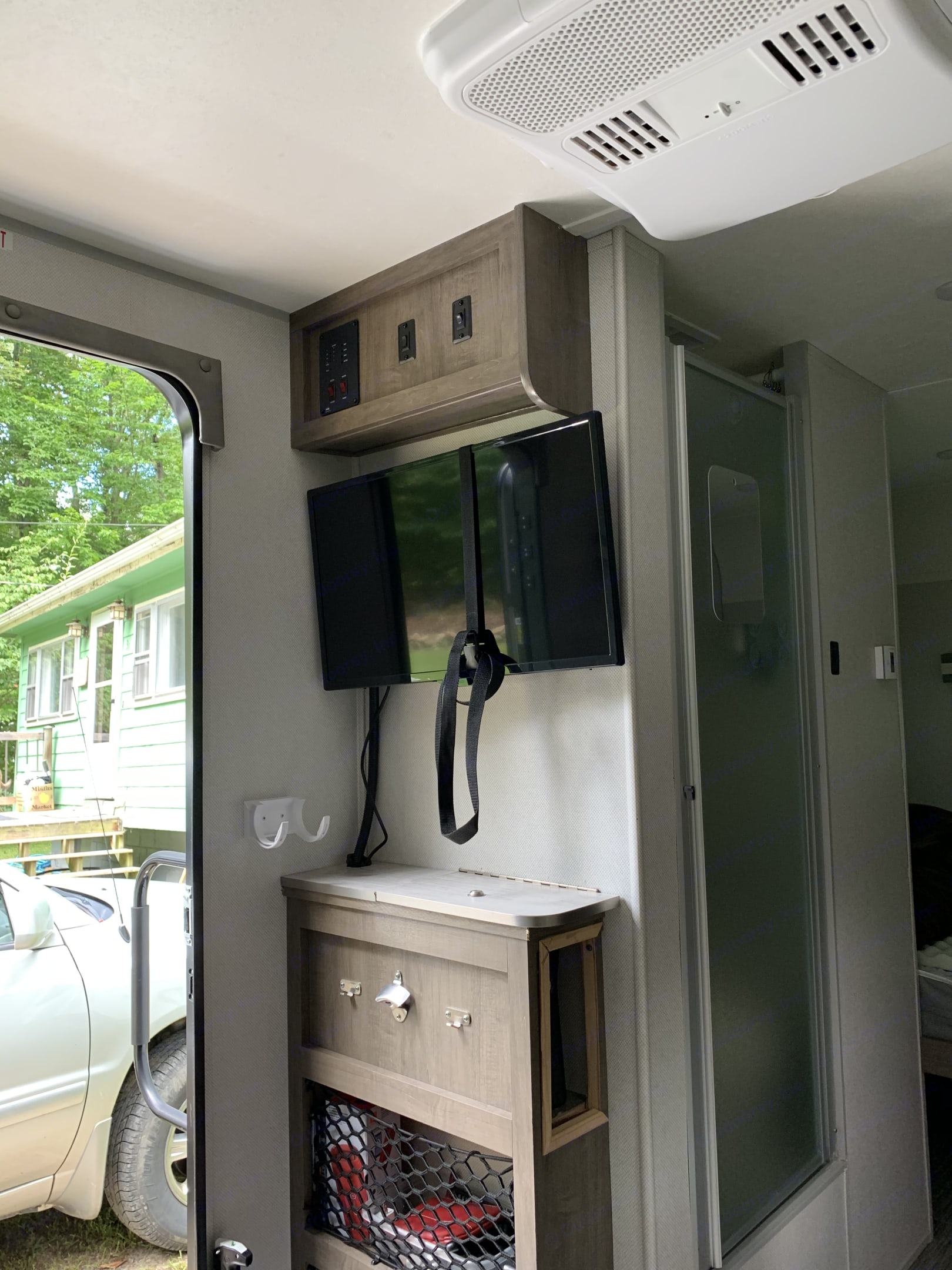 Han your keys, watch TV, view your tank usage, and main light switch.. Forest River NoBo 16.5 2019