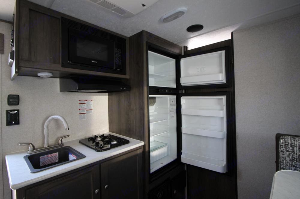 Full size fridge. Forest River Viking 2020