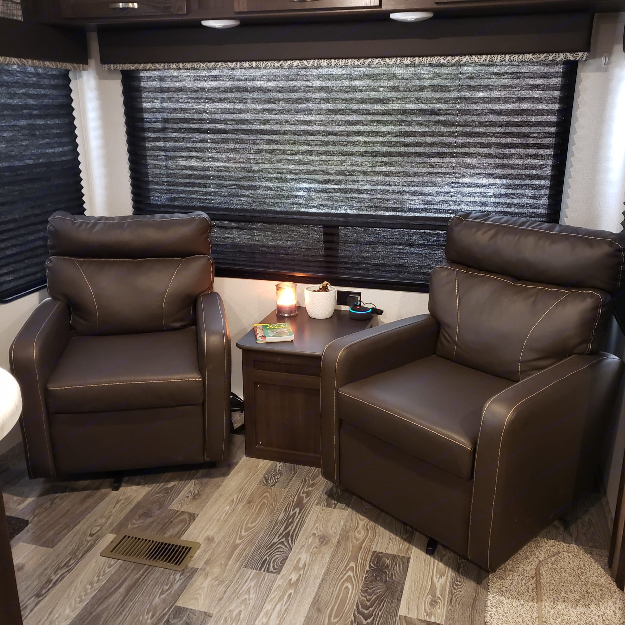 Close the blinds for some privacy or keep them open and enjoy the outdoor view.  Relax and read a book in one of these comfy chairs.. Keystone Springdale 2020