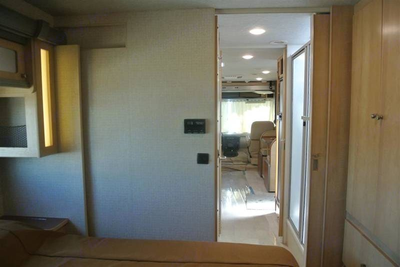Master Bedroom to the front of the RV. Winnebago Brave 2016