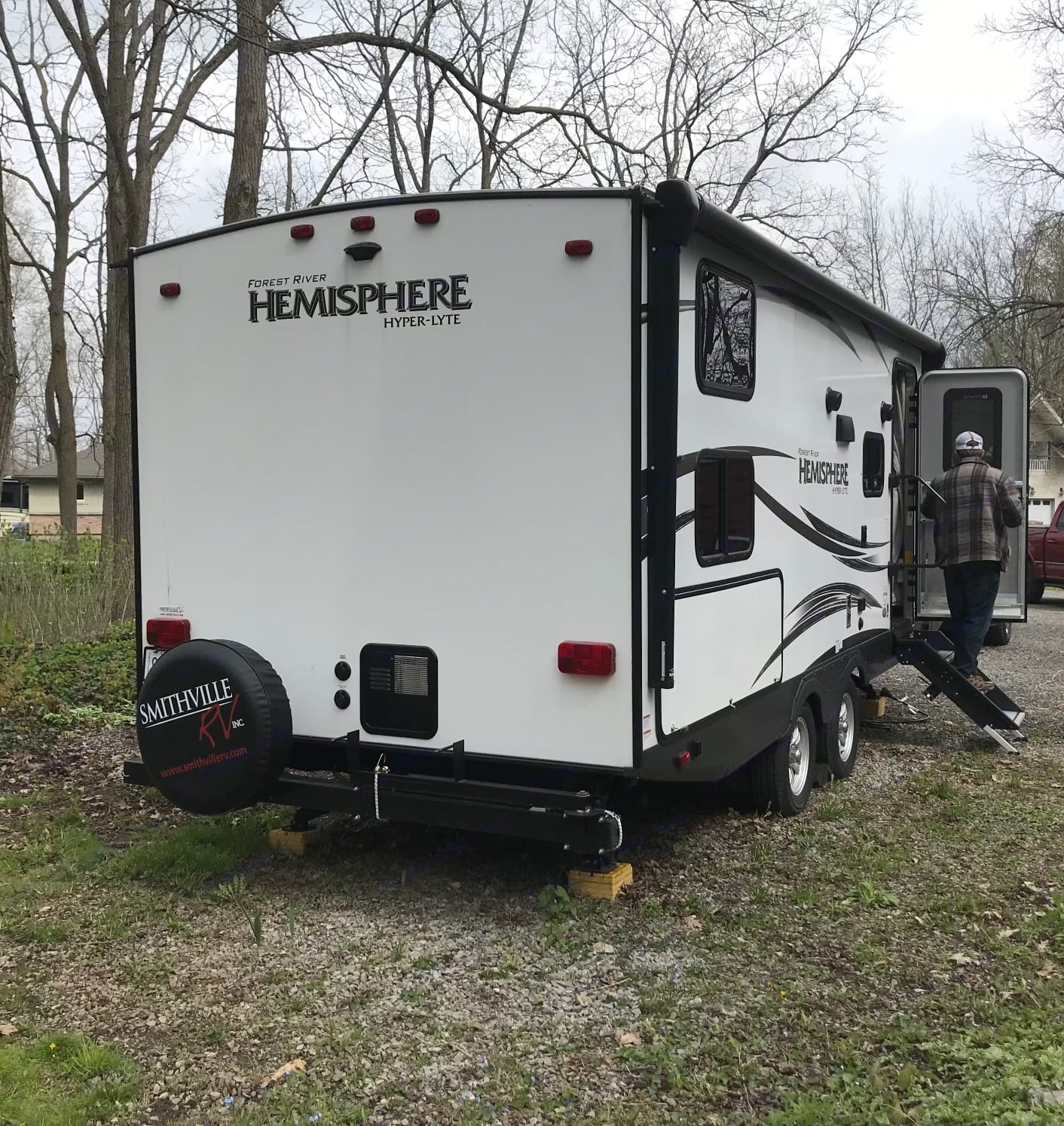 The hot water tank is located at the rear with easy access. It has electric start when the propane is turned on.. Forest River Other 2018