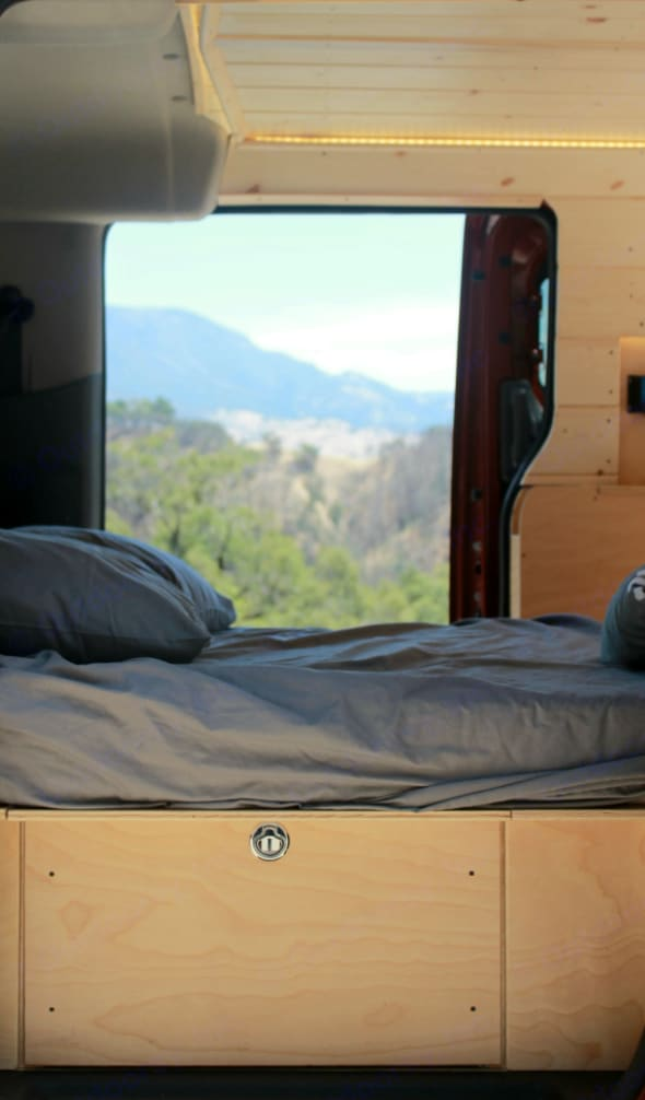 You will never camp in a tent again after a night or two in this van.. Nissan NV 2019