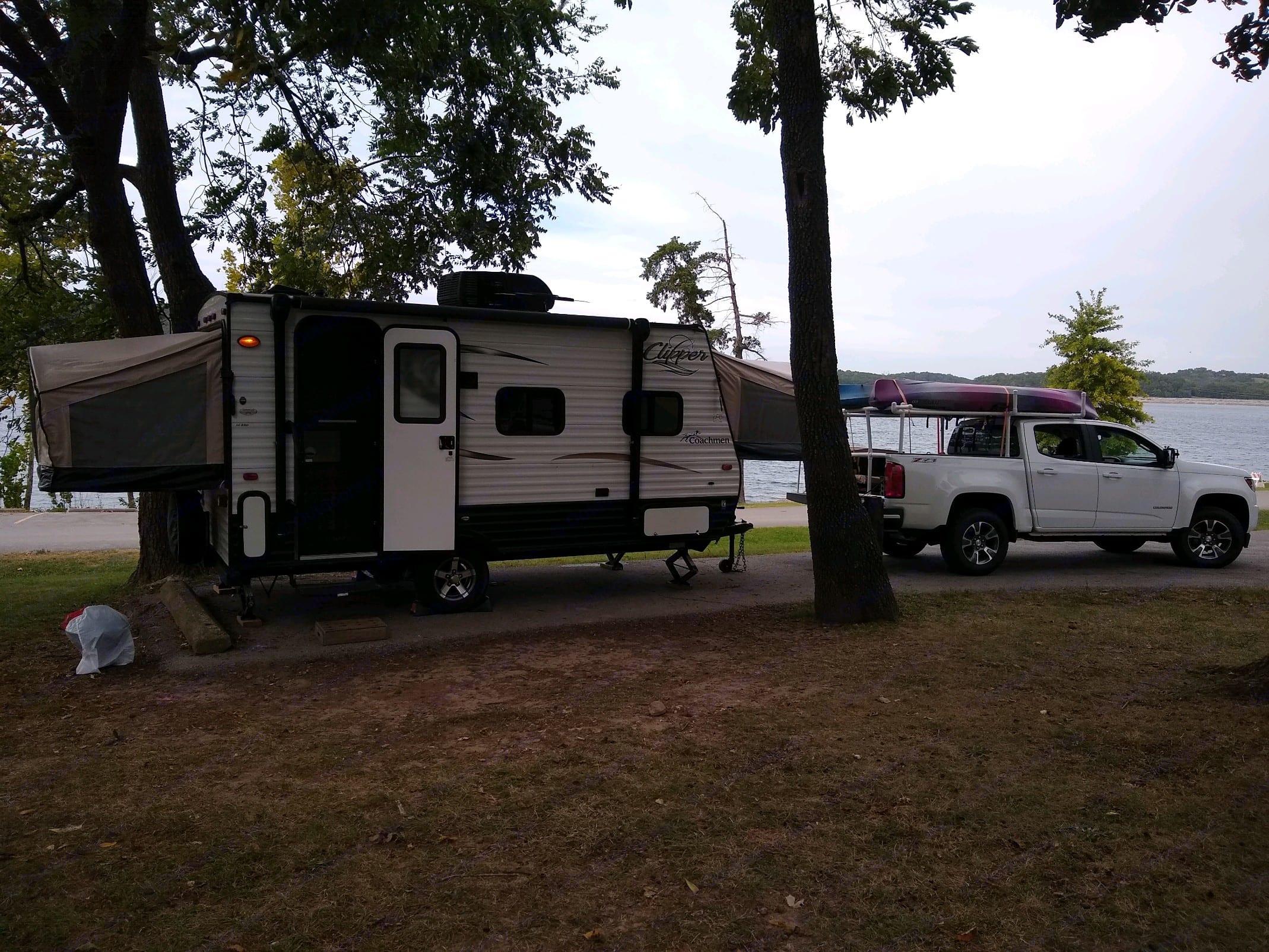 At our favorite campsite.. Coachmen Clipper 2016