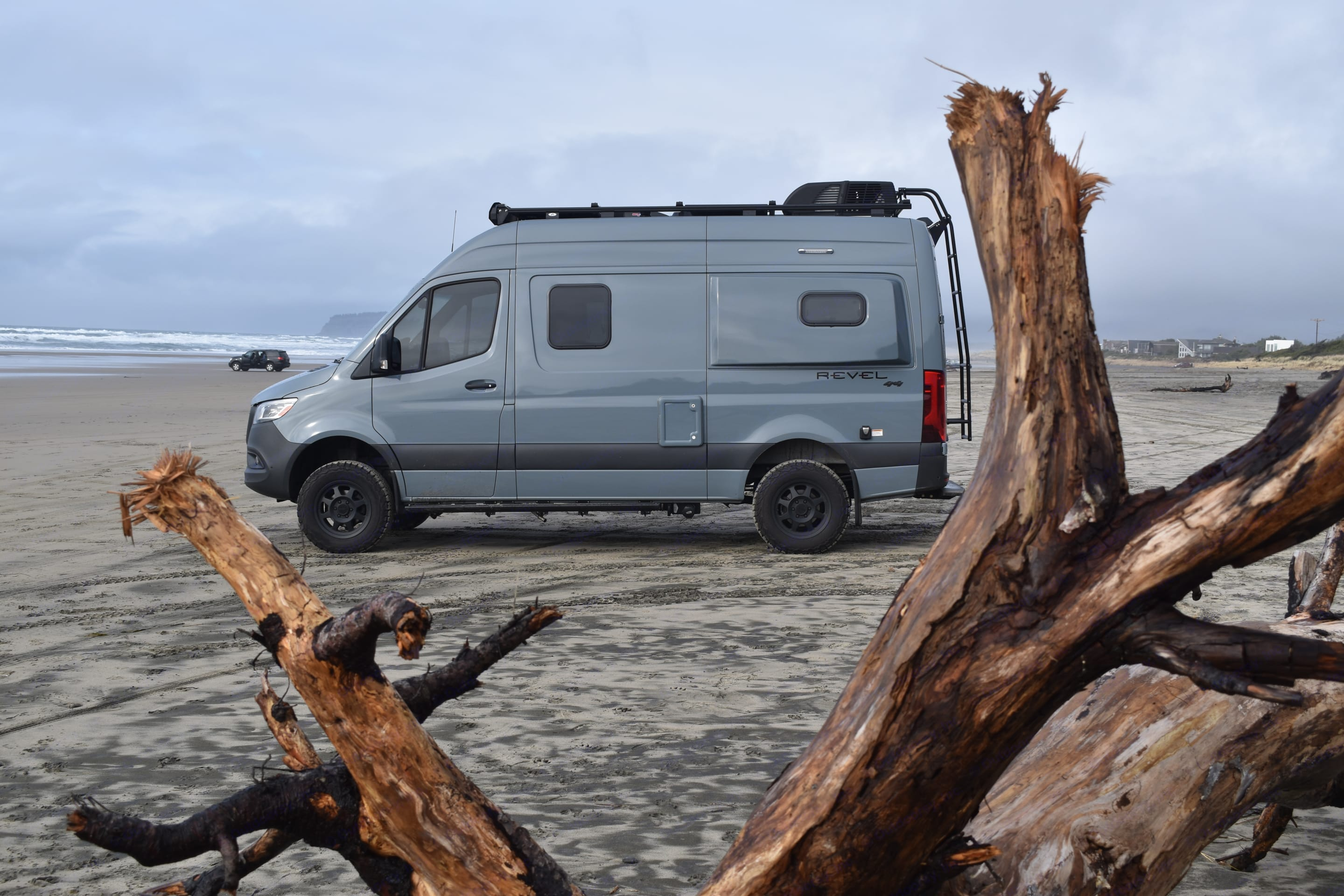 Driving on the beach is allowed at some of the Oregon coast beaches.. Winnebago Revel 2021