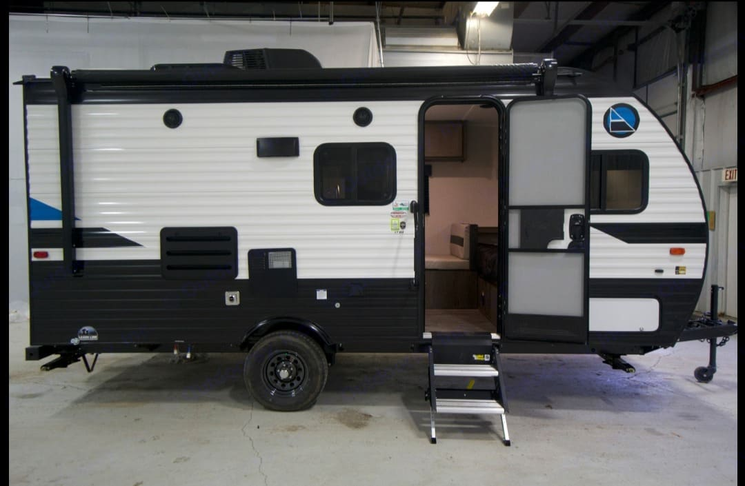 Shows upgraded stairs. Coachmen Clipper 2021
