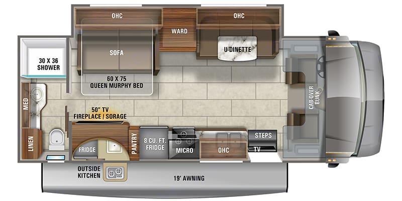 Floorplan . Jayco Redhawk 26M 2021