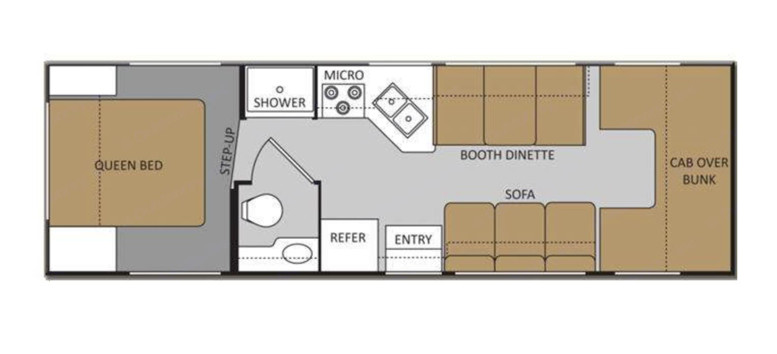 Floor plan for our Thor Motor Coach Chateau. . Thor Motor Coach Chateau 2016